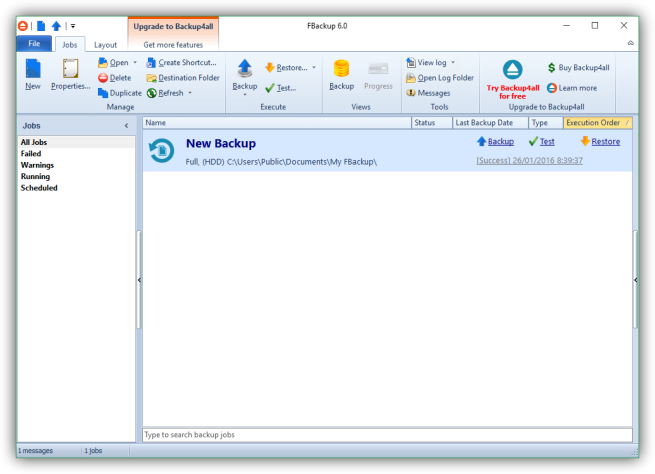FBackup - Copia de seguridad con exito