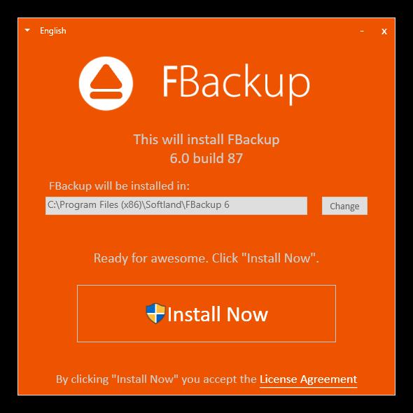 Instalación de FBackup