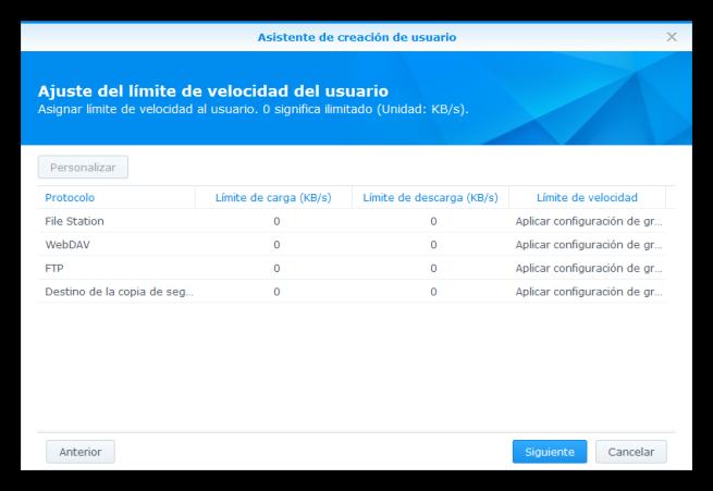 NAS Synology - Seguridad - Crear nuevo usuario 7
