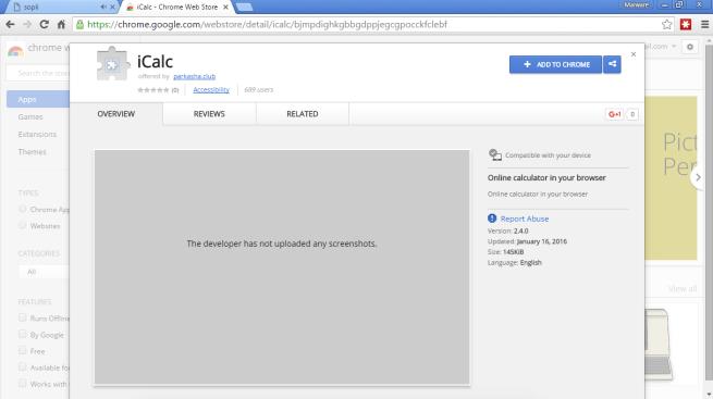 icalc extensión roba datos usuarios