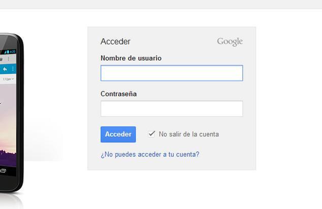 robo de credenciales de acceso a google