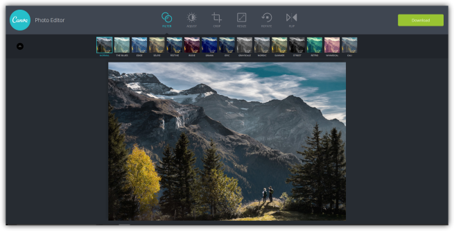 Canva - Aplicar filtros a fotos