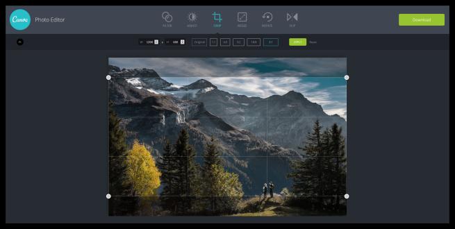 Canva - Recortar o redimensionar imagenes