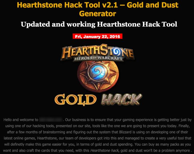 Hearthstone - Aplicación trampa con malware