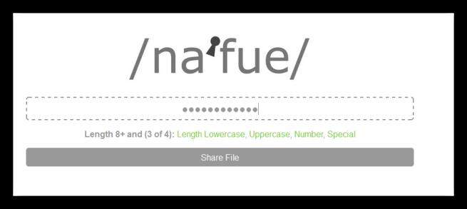 Nafue - Contraseña de archivo cifrado