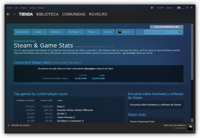 Navegador web de Steam