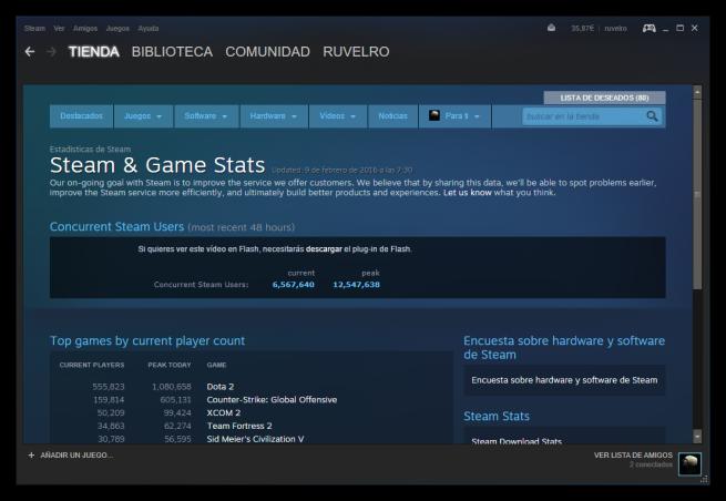 Navegador web de Steam