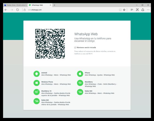 WhatsApp Web en Microsoft Edge