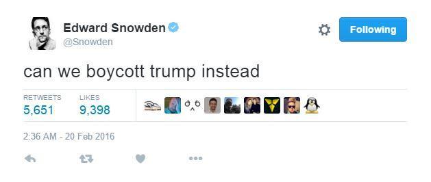 edwar snowden contesta a donald trump