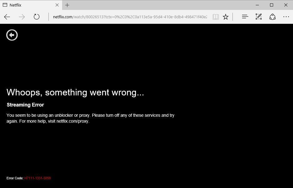 How to Get Around A Netflix Proxy Error