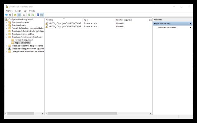 Directivas de seguridad local en Windows