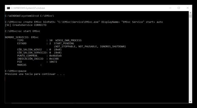 Event Monitor Service - Instalar servicio