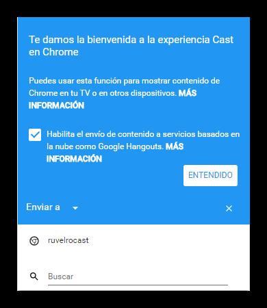 Nueva función Chromecast en Google Chrome