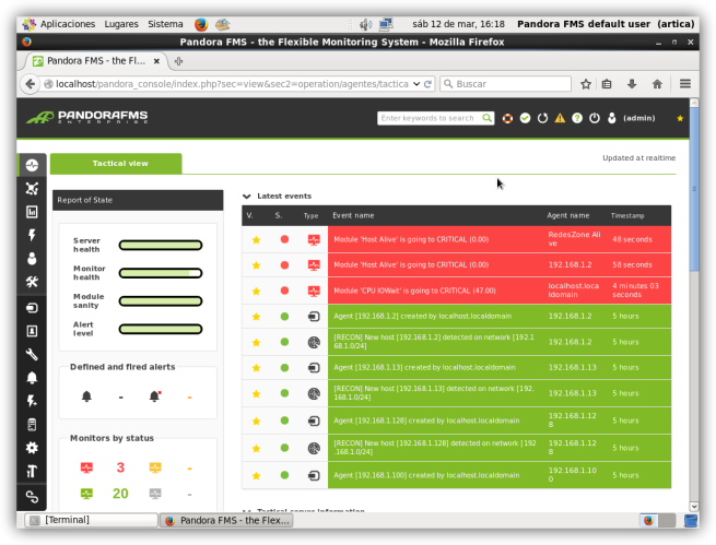 Pandora FMS - Error critico en servidor