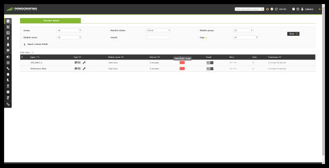 Pandora FMS - web y servidor caidos