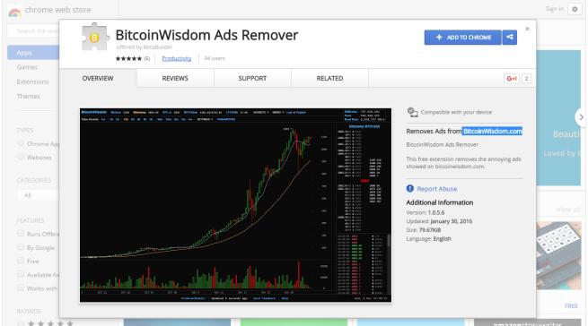 robando bitcoins extension para google chrome