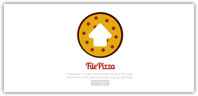 FilePizza - Enviar archivo
