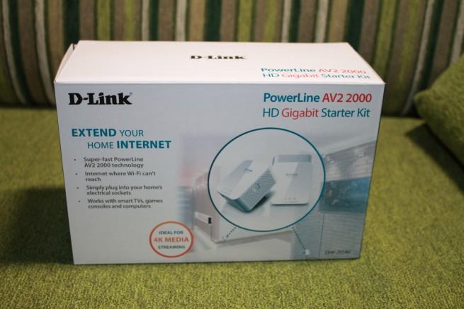 Parte frontal de la caja de los PLC D-Link DHP-701AV