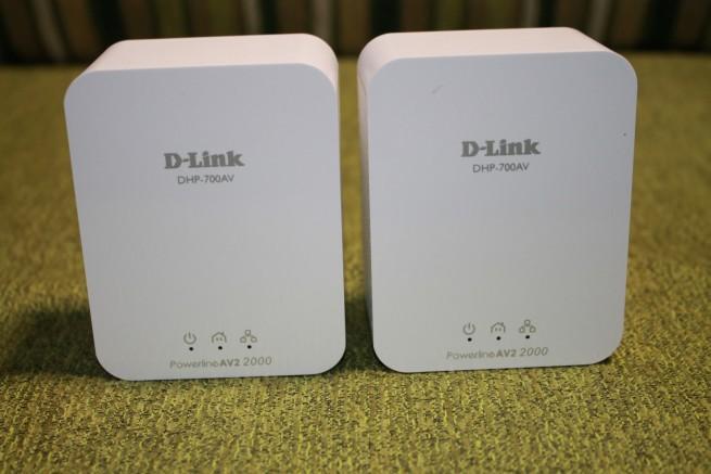 Imagen frontal de los PLC D-Link DHP-701AV
