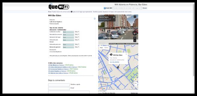 QueWiFi - Mas datos sobre el punto de acceso