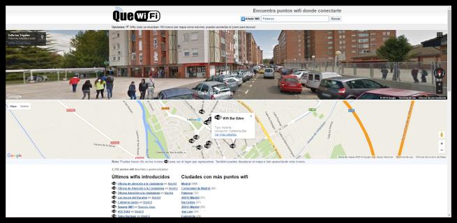 QueWiFi - Mostrando un punto de acceso
