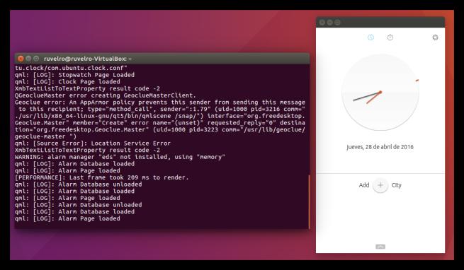 Aplicación Snap instalada en Ubuntu