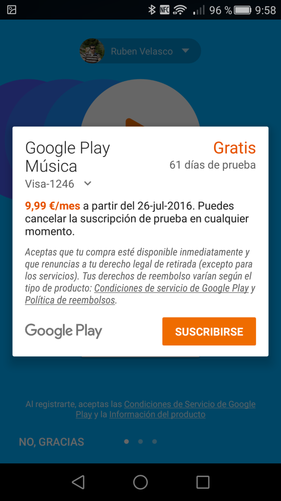 Dos meses gratis Google Play Music