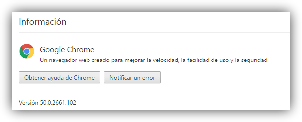 Google Chrome 50 actualizado