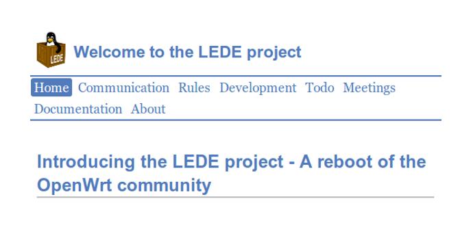 LEDE - Nuevo desarrollo OpenWRT
