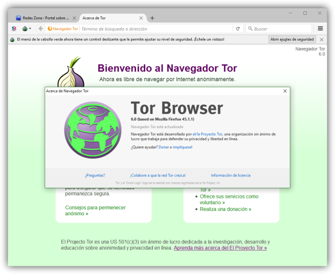 Tor Browser 6.0 Firefox 45 ESR