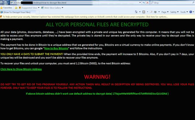 zcryptor afecta a windows 121 tipos de archivos cifrados
