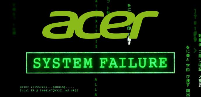Acer Robo de datos