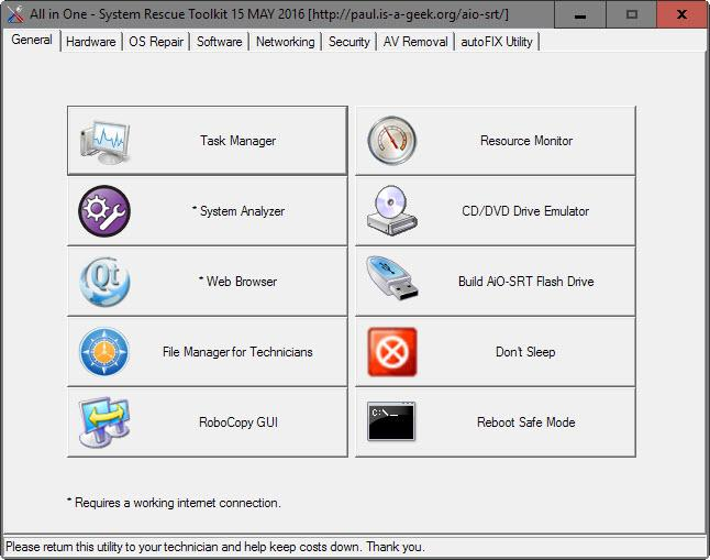 All In One System Rescue Toolkit repara windows 7 y 10