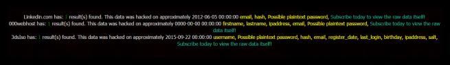 Datos publicados LeakedSource