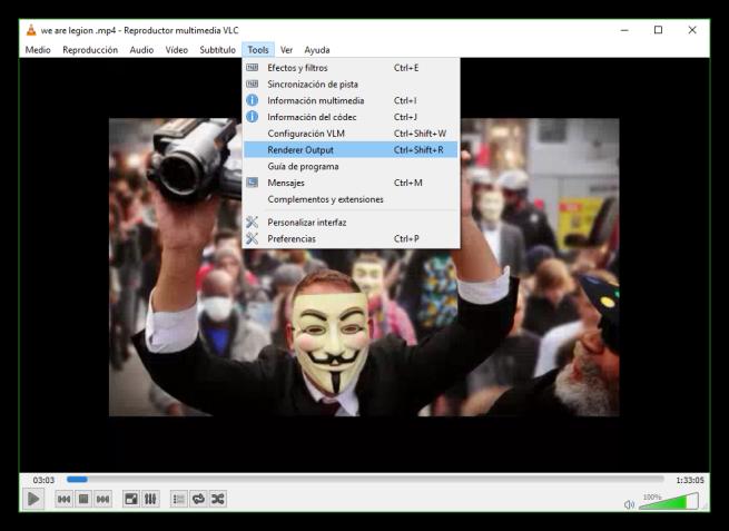 VLC 3.0 Herramientas Cast