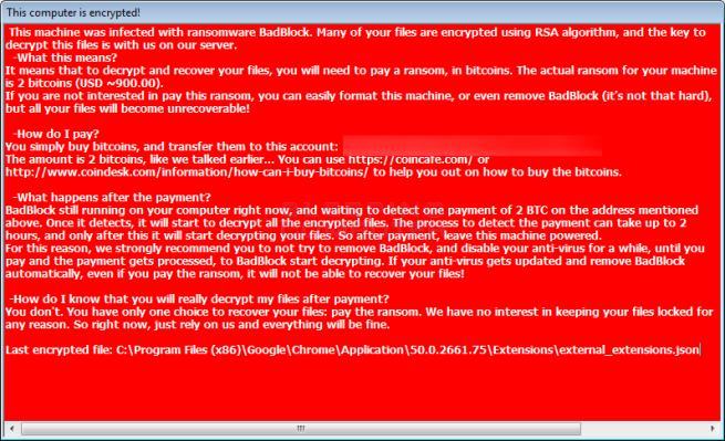 badblock Ransomware