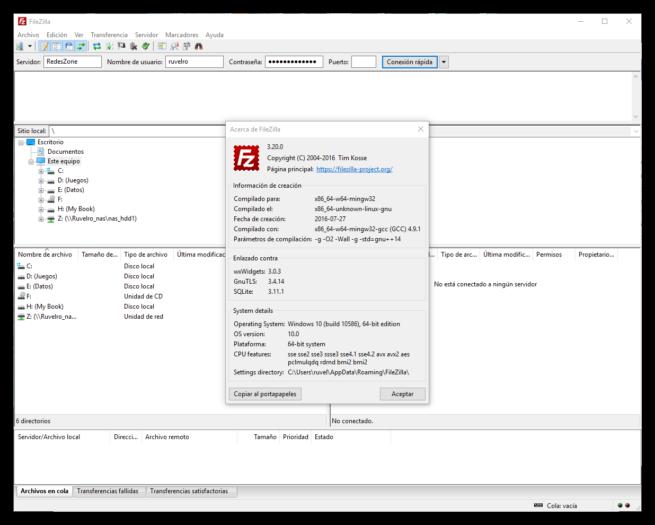 FileZilla 3.20