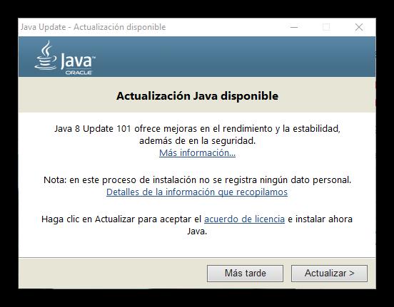 Oracle Java Update 101