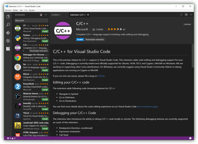 Visual Studio Code 1.3