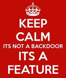 No es una Backdoor, es una característica