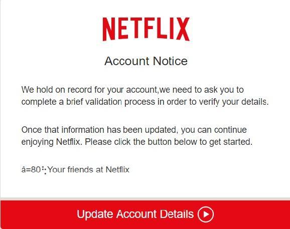 pagina phishing netflix