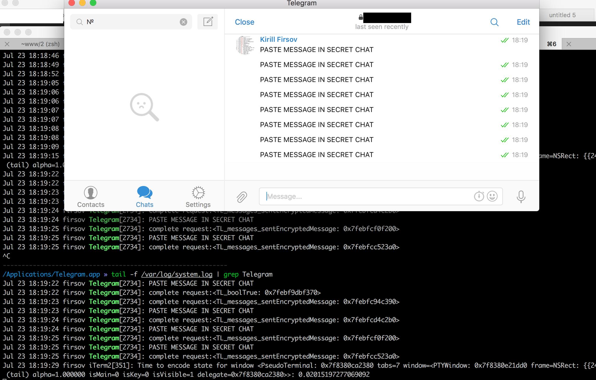 telegram almacena conversaciones mac os x