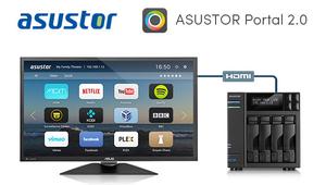 ASUSTOR Portal 2.0 ya está disponible para los NAS del fabricante con puertos HDMI