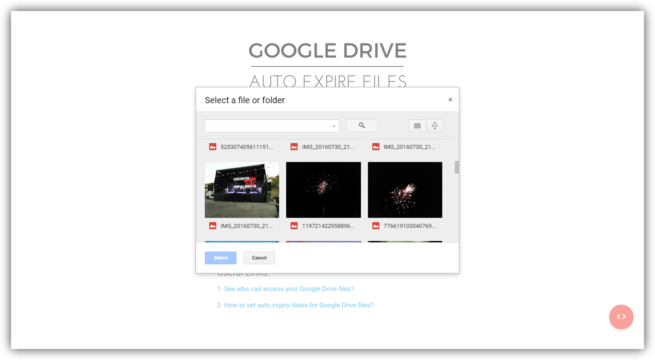 Google Drive Auto Expire Files - Archivos