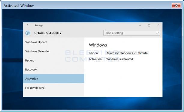 Windows activado tras estafa de soporte técnico