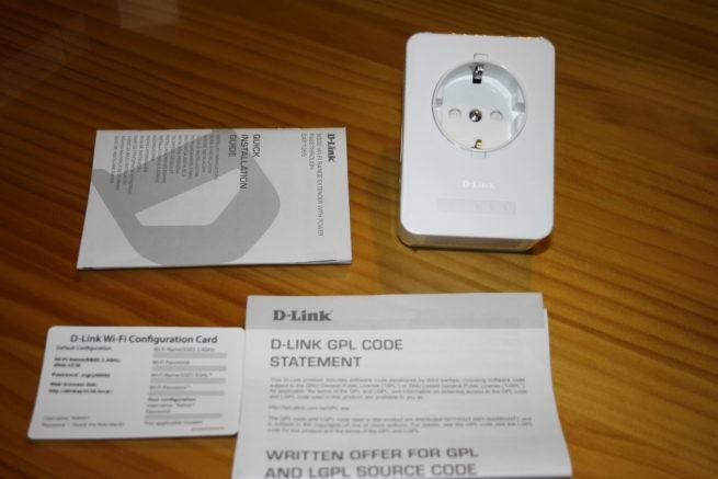 Contenido de la caja del repetidor Wi-Fi D-Link DAP-1365