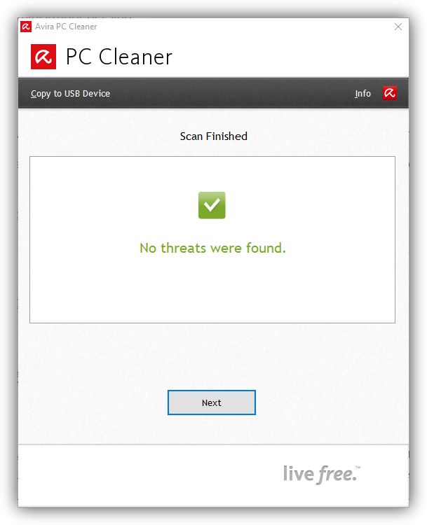 Avira PC Cleaner - resultados