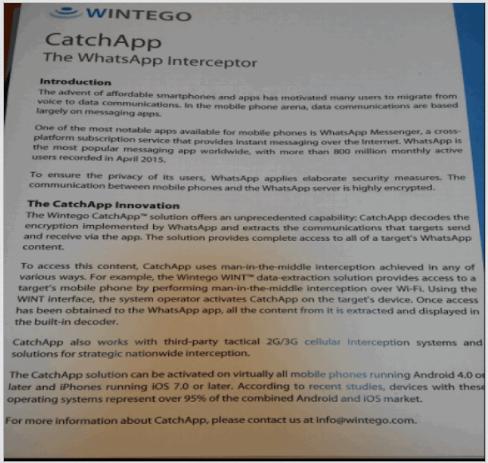 CatchApp - Plataforma para descifrar los mensajes de WhatsApp
