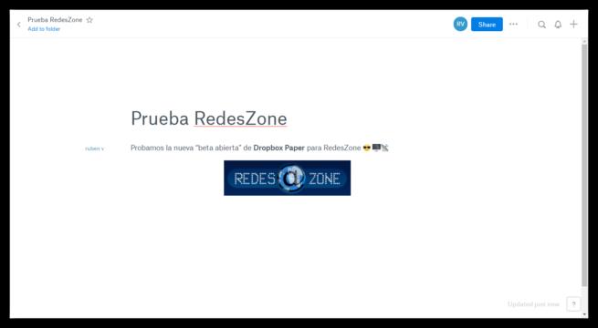 Dropbox Paper RedesZone